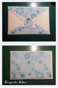 Postal blanca y azul