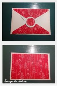 Postal blanca y roja